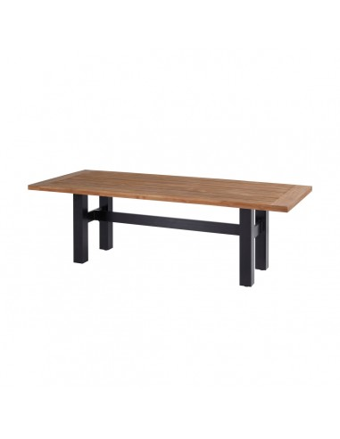 Sophie Teak Wood Table Carbon Black 240 x 100